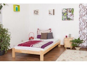 Lit futon bois de pin massif naturel A10, incl. sommier à lattes – Dimensions : 120 x 200 cm