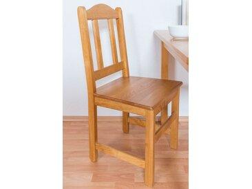 Chaise en bois de pin massif couleur aulne Junco 247 - Dimensions : 93 x 44 x 43 cm (H x l x p)