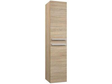 Salle de bain - Armoire haute Bidar 86, Couleur : Chêne – 160 x 35 x 35 cm (H x l x p)