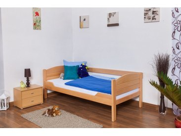 Lit enfant / lit de jeunesse Easy Premium Line ® K1/s Voll, 90 x 190 cm en bois de hêtre massif naturel