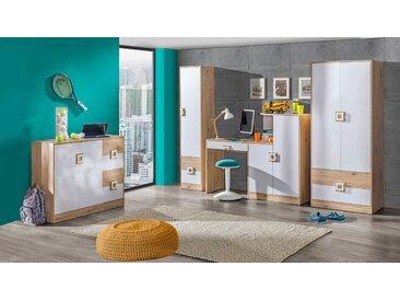 Chambre d'enfant Set A Fabian, 4 pièces, couleur : chêne brun clair / blanc