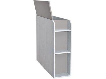 Chambre d´enfants - Coffre Luis 03, Couleur : Chêne Blanc / Gris - 92 x 30 x 103 cm (H x l x p)