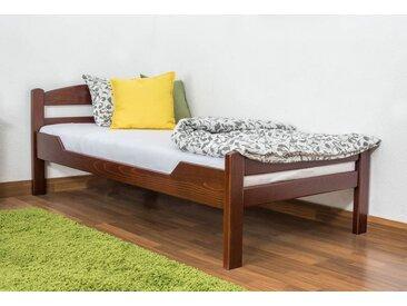 Lit enfant / lit de jeunesse Easy Premium Line K1/2n, bois de hêtre massif laqué brun foncé - Surface de couchage : 90 x 190 cm