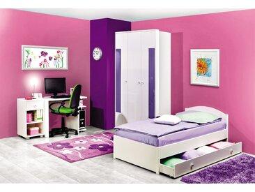 Chambre des jeunes complète - Ensemble W Gabriel, 5 pièces, couleur : blanc / violet