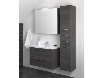 Meubles de salle de bains - Ensemble X Pune, 3 pièces avec lavabo, Couleur : Gris Cendré