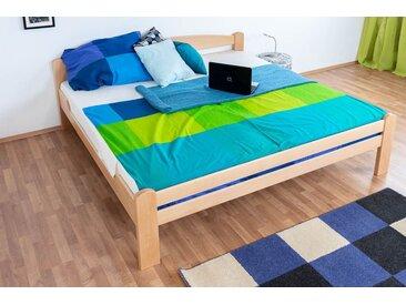 Lit de jeunesse Easy Premium Line ® K4, 200 x 200 cm bois de hêtre massif naturel, sommier inclus