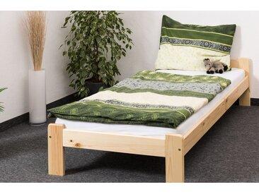 Lit futon/lit en bois de pin massif naturel A8, y compris sommier à lattes - Dimensions : 90 x 200 cm