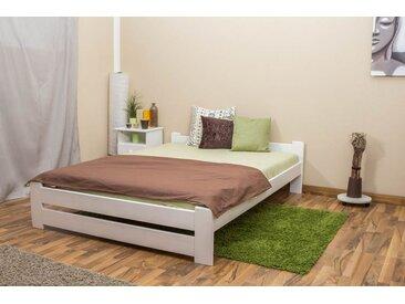 Lit futon bois de pin massif blanc A9, incl. sommier à lattes – Dimensions : 140 x 200 cm