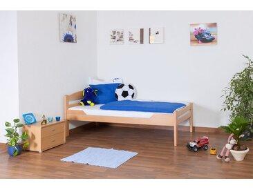 Lit enfant / lit de jeunesse Easy Premium Line K1/2n, bois de hêtre massif naturel - Dimensions : 90 x 190 cm