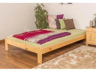 Lit futon bois de pin massif naturel A10, incl. sommier à lattes – Dimensions : 140 x 200 cm