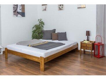 Lit futon bois de pin massif de couleur chêne A10, incl. sommier à lattes – Dimensions : 160 x 200 cm
