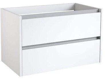 Meuble lavaboKolkata 13 avec découpe de siphon, Couleur : Blanc Brillant – 50 x 80 x 46 cm (H x l x p)