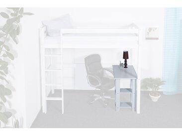 Bureau DOMINIK hêtre massif laqué en blanc  pour le lit mezzanine Dominik