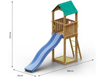 Tour de jeux pour enfants / aire de jeux avec toboggan à vagues et bac à sable FSC®