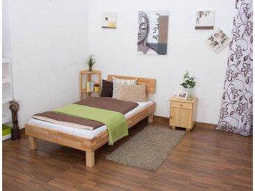 Lit futon / lit en bois massif Wooden Nature 01 cœur de hêtre huilé- Dimensions du couchage 100 x 200 cm