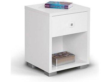 Chambre d´adolescent - Table de nuit Gabriel 02, Couleur : Blanc - 52 x 42 x 38 cm (H x L x l)