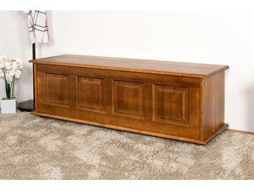 Banc avec coffre de rangement bois massif couleur chêne rustique 179 – Dimensions: 50 x 154 x 46 cm (H x l x p)
