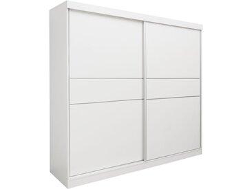 Armoire à portes coulissantes / armoire Bermeo 02, couleur : blanc - 220 x 240 x 65 cm (H x L x P)