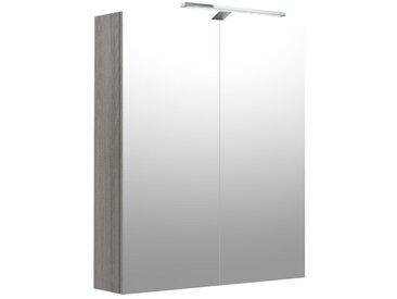 Salle de bain - armoire de toilette Nadiad 39, couleur : gris cendre - 70 x 60 x 14 cm (H x L x P)
