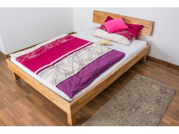 Lit futon / Lit en bois massif Wooden Nature 01 hêtre huilé - Surface de couchage 140 x 200 cm