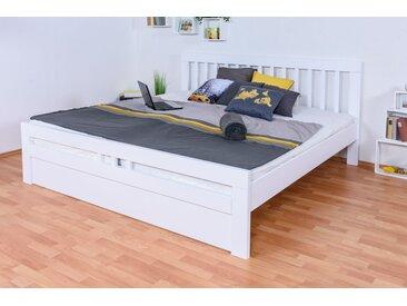 Lit de jeunesse Easy Premium Line ®  K8 incl. 1 panneau de couverture, 200 x 200 cm hêtre massif en bois laqué blanc