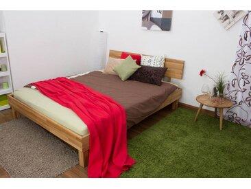 Lit futon / lit en bois massif Wooden Nature 02 chêne huilé - Dimensions du couchage 160 x 200 cm