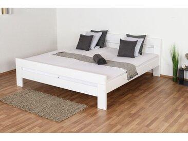 Lit de jeunesse Easy Premium Line ®' K6, 120 x 200 cm bois de hêtre massif laqué blanc