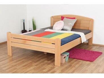 Lit de jeunesse Easy Premium Line ®' K7, 140 x 200 cm bois de hêtre massif naturel