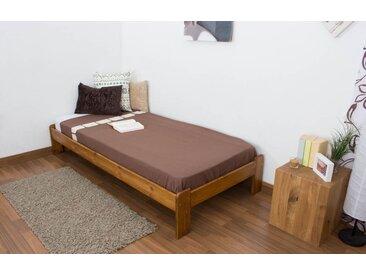 Lit futon bois de pin massif de couleur chêne A10, incl. sommier à lattes – Dimensions : 90 x 200 cm