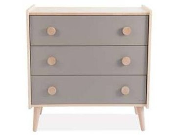 moulin roty Commode en Bois Massif - Taupe
