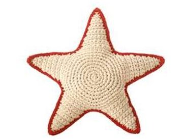 anne claire petit Hochet Sea Star en Crochet - Rouge