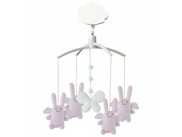 Trousselier Mobile Musical Ange Lapin - Rose