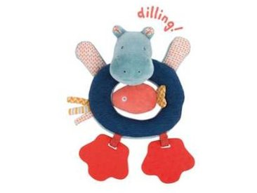 moulin roty Anneau Hochet Hippopotame  Les Papoum