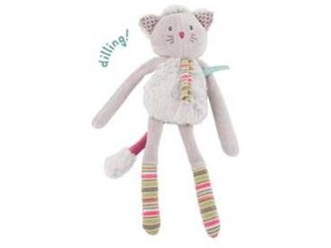 moulin roty Hochet Chat  Les Pachats  - Gris