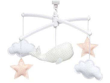 Pouce et Lina Mobile Musical Baleine - Blanc et Nude
