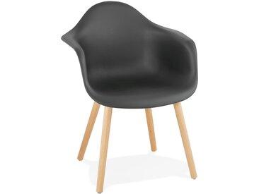 Chaise avec accoudoirs 'OLIVIA' noire style scandinave