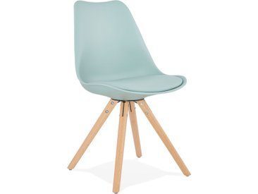 Chaise scandinave 'GOUJA' bleue