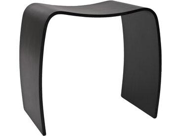 Tabouret bas d'appoint 'MOJO' en bois noir