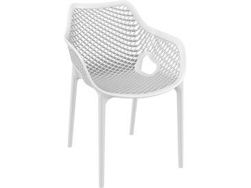 Chaise de jardin / terrasse 'SISTER' blanche en matière plastiqu