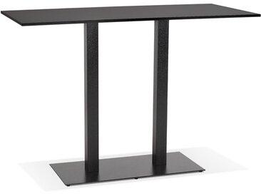 Mange-debout design 'AUSTIN BAR' noir avec pied en métal noir -