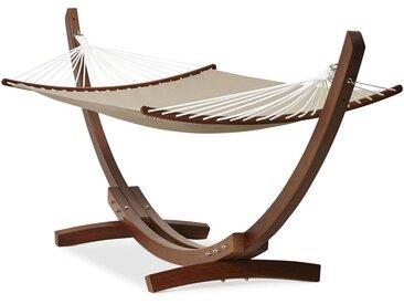 Hamac arc xxl 'AMAK' support bois et toile démontable