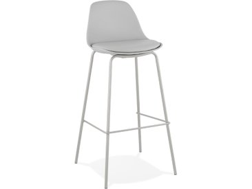 Tabouret de bar 'COOKIE' gris style industriel