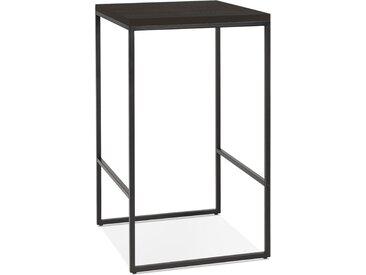 Table haute design 'STRAMOS' finition Wengé avec structure noire
