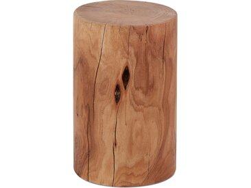 Table d'appoint / Tabouret tronc d'arbre 'STOLY' en bois massif