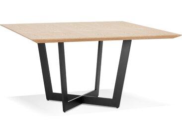 Table de salle à manger carrée 'ANITA' en bois finition naturell