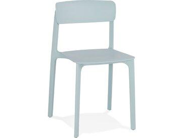 Chaise intérieur / extérieur empilable 'TROPICAL' en matière pla