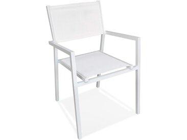 Chaise de jardin empilable 'KOS' en aluminium et matière synthét