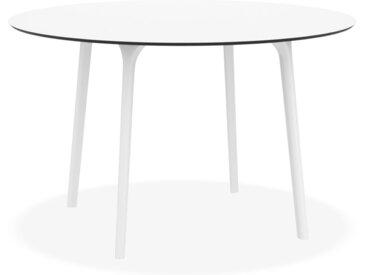 Table de terrasse ronde 'LAGOON' blanche intérieur / extérieur