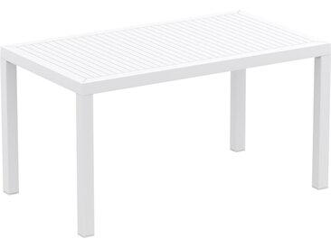 Table de jardin 'ENOTECA' design en matière plastique blanche -