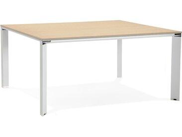 Table de réunion / bureau bench 'XLINE SQUARE' en bois finition